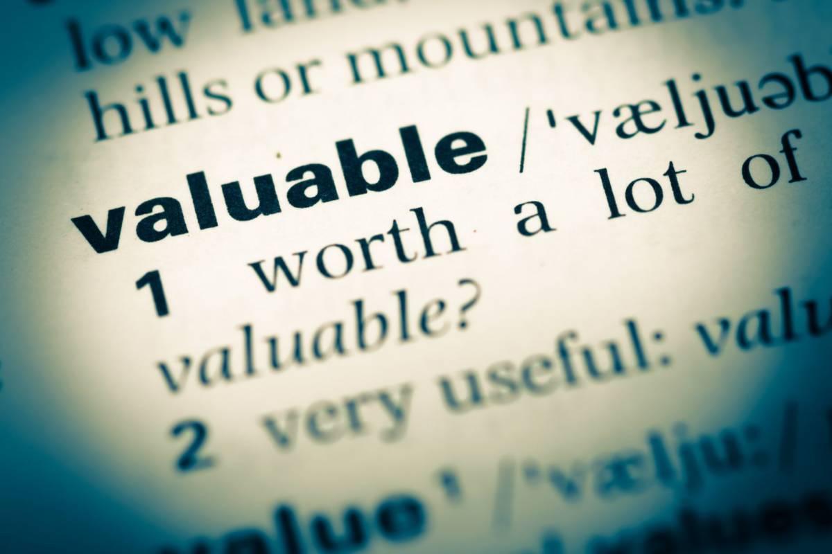 valuable definition