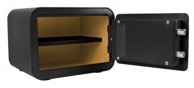 black small personal safe
