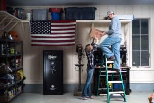 cannon gun safe in garage