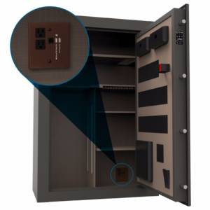 open safe with media box