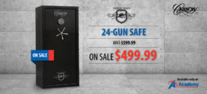 Cannon safe at academy