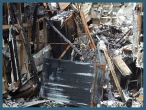 safe in damaged home