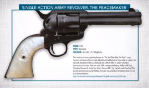 single action army revolver