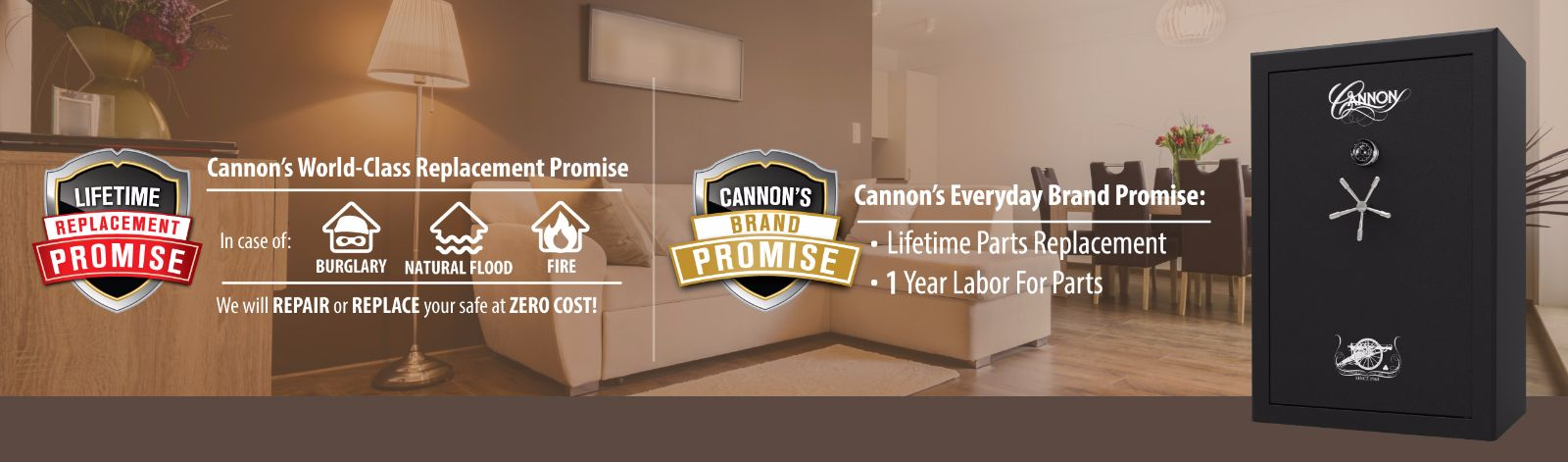 cannon safe lifetime replacement promise