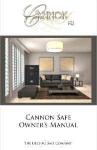cannon safe owner's manual