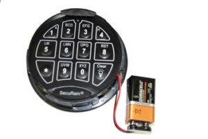 cannon safe digital keypad battery