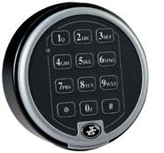 side view of digital lock